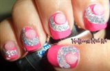 Beautiful Tinsel Rhinestones Nail Art