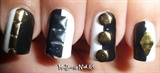 Monochrome Studded Nails!