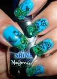 Lotus Oriental Stamping Nail Art