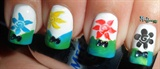Pretty Flowery Nails