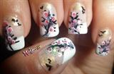 Blooming Trees Nail Art