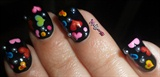 Colorful Hearts Nails! ❤