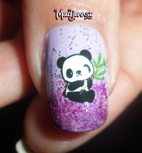 Cute panda nails how to water decals nail art gallery step by cute panda nails how to water decals prinsesfo Images