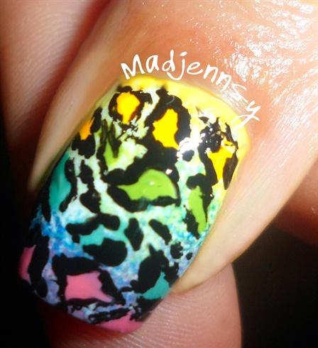 Rainbow Leopard Nails!