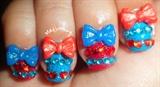Sweet Bow Lolita Gyaru Nails