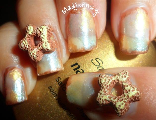 Sweet Star Shaped Doughnut 3D Nail Art