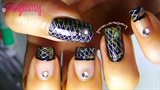 Elegant Foil Nails
