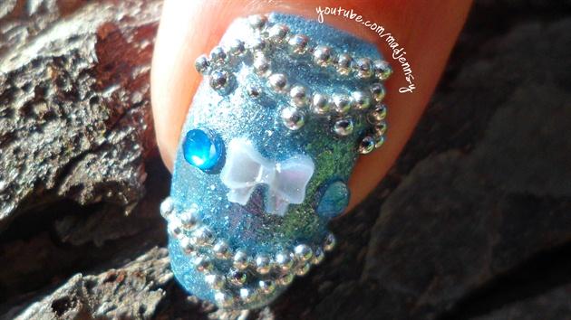 Winter Wedding Micro Beads Bridal Nail A Nail Art Gallery Step By