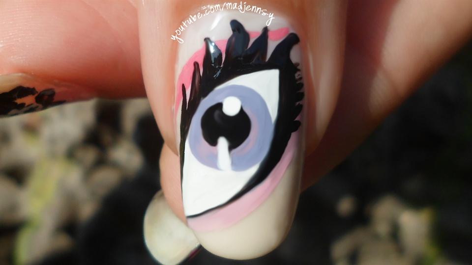 Monster High Nail Art Draculauras Eye Nail Art Gallery Step By