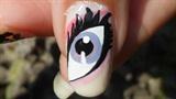 Monster High Nail Art ★ Draculaura's Eye