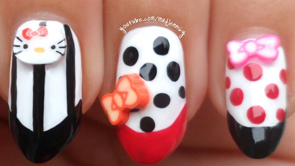 Cute hello kitty stiletto nails nail art gallery step by step hd nail video tutorial httpyoutunoiekmgq94w prinsesfo Gallery