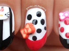 Cute Hello Kitty Stiletto Nails ♥