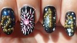 3D 2014 Caviar & Fireworks Nail Art