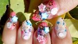 Glittertastic New Year Nails