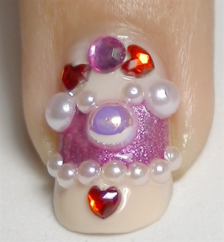 Place rhinestones as shown