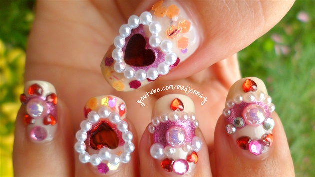 Bejeweled Lover 3D Nail Art