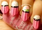 Cute Apron Inspired Half Moon Manicure