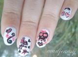 Girlish Skull Nail Art
