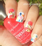 Back to School Nails - Apples & Numbers!