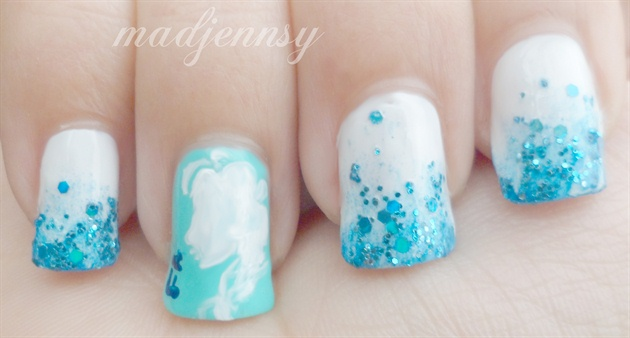 Frozen inspired minimalistic nail art nail art gallery frozen inspired minimalistic nail art prinsesfo Images