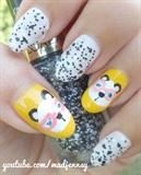 Cute Nerdy Panda Nail Art ☆