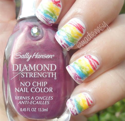 Rainbow Spun Sugar Nails Nail Art Gallery