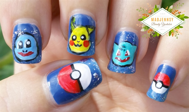 Pokemon Nail Art ★ Pikachu ★ Squirtle ★