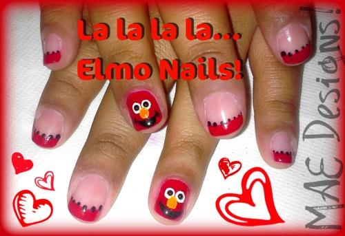 Elmo Nails Nail Art Gallery