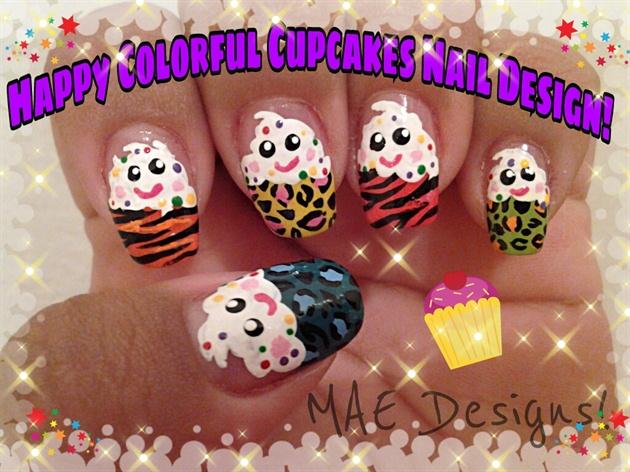 Happy animal print cupcake nails nail art gallery happy animal print cupcake nails prinsesfo Image collections