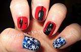 9-11 Patriotic nails