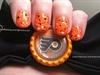 Flyers orange nails