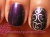 Purple Valentine's Day nails