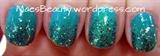 Green Glitter mani