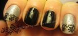 Black lace mani