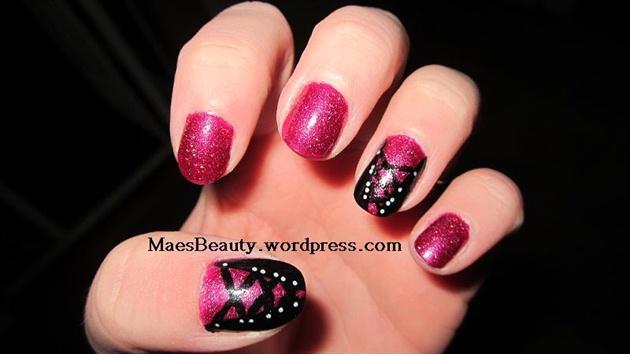 Corset Glitter nails