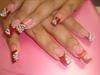 red zebra nails