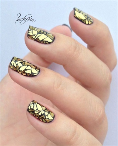 Black And Gold Triangles