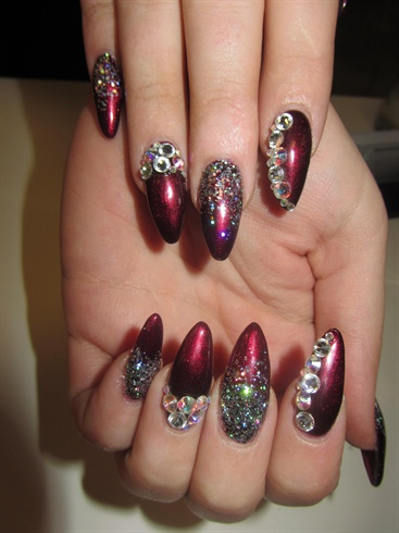 dark red  nail art gallery