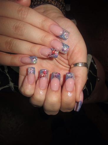 light blue  nail art gallery