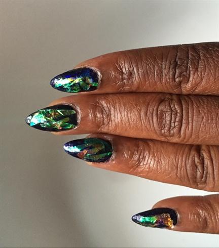 Broken Glass Manicure