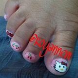 Hello Kitty Pedi