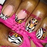Tiger/Animal Print mani