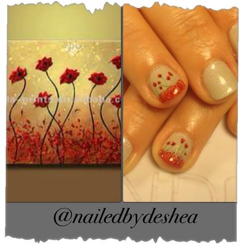 inspiration shellac flowers