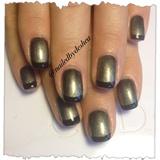 black/silver shellac