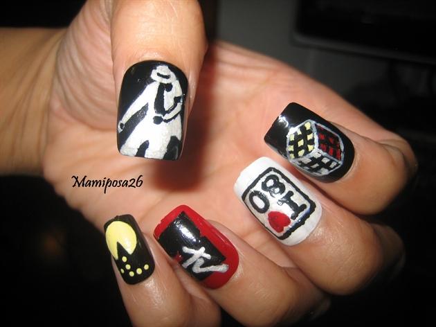 Michael jackson 80s nails nail art gallery michael jackson 8039s nails prinsesfo Gallery