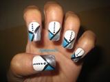 silver blue nail design