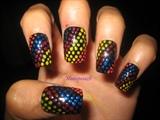 colorful dots nails