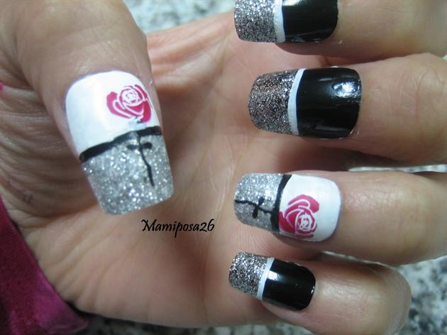 Gothic flower nails