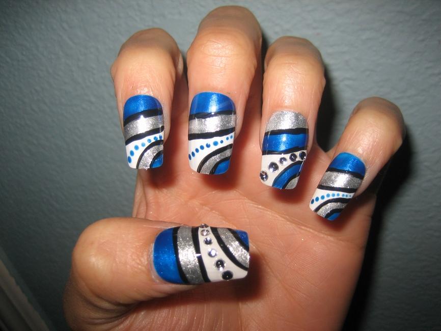 Royal Blue Nail Design Nail Art Gallery