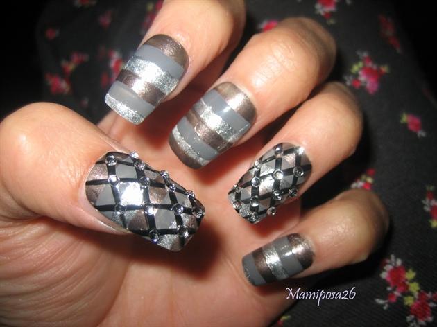 Neutral Grey tones Nail design
